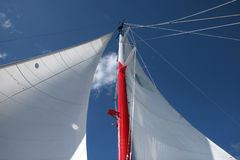 Yacht Mast and Sails Royalty Free Stock Image