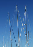 Yacht Masts Stock Photo