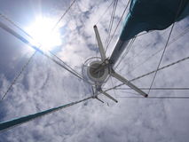 Yacht Masts. With Bright Sun royalty free stock photo