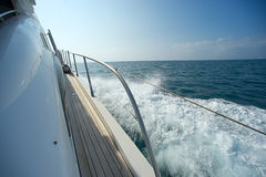 On The Yacht mediteranean sea Stock Photos