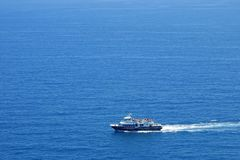 Yacht in Mediterranean Sea Stock Images