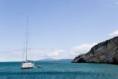 Yacht on the Mediterranean Sea Stock Photos