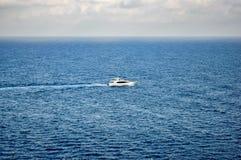 Yacht on the mediterranean sea Stock Image