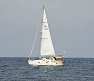 Yacht on Mediterranean Stock Images