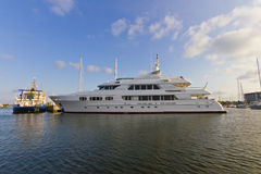 Yacht mega fotografia stock