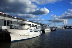 Yacht,Melbourne City. Private yacht. melbourne city.Victoria, Australia stock photo