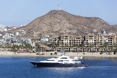 Yacht In Mexican Resort Royalty Free Stock Photography