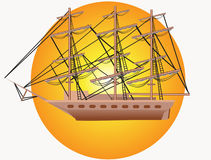 Yacht mit drei Masten Lizenzfreie Stockfotografie