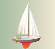 Yacht model. Royalty Free Stock Photography