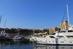 Yacht in Monaco Immagini Stock Libere da Diritti