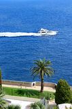 Yacht in Monte-Carlo, Monaco Royalty Free Stock Photography