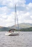 Yacht moored on Lake Windermere Royalty Free Stock Photos