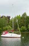 Yacht moored on Lake Windermere Stock Photography