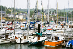Yacht mooring in Brittany Royalty Free Stock Photography