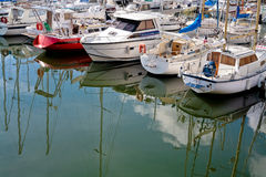 Yacht Mooring In Cancale Royalty Free Stock Images