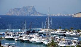 Yacht Moraira gauche Image libre de droits