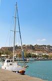 Yacht nahe Nafplio, Griechenland Stockfotografie
