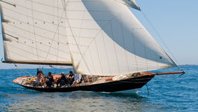Yacht named penduick by eric tabarly royalty free stock photography
