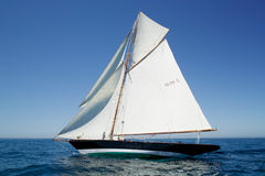 Yacht named penduick by eric tabarly stock images
