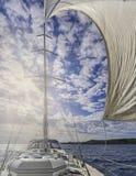 Yacht a navigação fotografia de stock