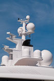 Yacht navigation system antennas Stock Photo
