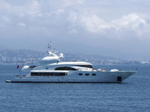Yacht near Cannes Royalty Free Stock Photo