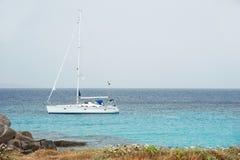 Yacht near Corsica coast Stock Image