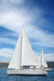 Yacht nel mare medeterian Fotografia Stock Libera da Diritti
