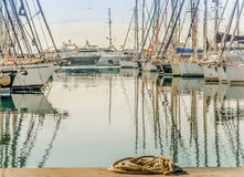 Yacht nel porticciolo Immagine Stock Libera da Diritti