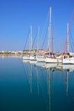 Yacht nel porticciolo di Rethymno, Creta Fotografia Stock Libera da Diritti