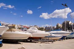 Yacht nel porto Fotografia Stock