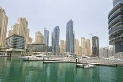 Yacht nel porto del Dubai, emirati arabi uniti Immagine Stock