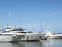 Yacht nel porto del riviera francese Fotografie Stock