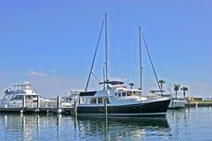Yacht nella baia di Sarasota Immagini Stock