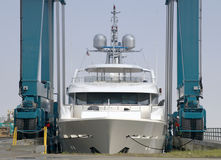 yacht neuf de luxe Images stock