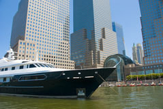 Yacht in New York City Royalty Free Stock Photo