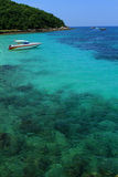 Yacht no golfo imagem de stock royalty free