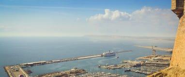 Yacht o porto de Alicante, Valência, Espanha Imagem de Stock