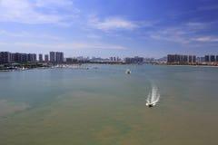 Yacht o porto do parque wuyuan da baía da cidade amoy fotos de stock royalty free