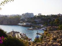 Yacht o porto em Kaleici, Antalya, Turquia fotos de stock royalty free