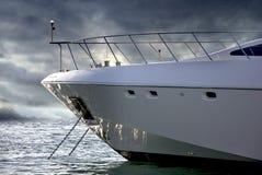 Yacht obliquo Immagini Stock