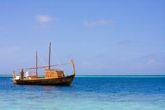 A yacht in an ocean Stock Photography