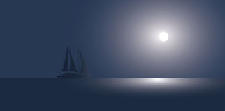 The yacht at the ocean Stock Image