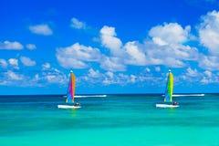 Yacht at ocean Royalty Free Stock Photos