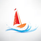 Yacht and ocean wave Stock Photography