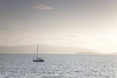 Yacht off Isle of Skye Stock Images