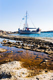 Yacht On A Beach Royalty Free Stock Images