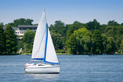 Yacht On Lake Royalty Free Stock Images