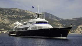 Yacht The One. Motor yacht The One a 70 meter 1973 Larssen build yacht previously Carinthia VI Stock Photography
