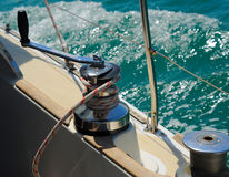 Yacht in the open sea Royalty Free Stock Images